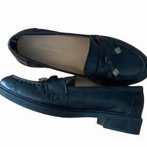 TOMMY HILFIGER Norma Leather Loafers Slip On Shoes
